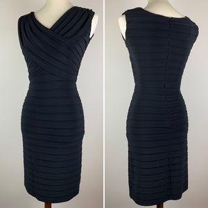 Slinky Adrianna Papell Petites Pleated Black Dress
